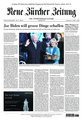Neue Zürcher Zeitung International (22.01.2021)