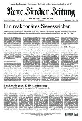 Neue Zürcher Zeitung International (20.02.2021)