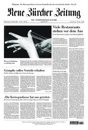Neue Zürcher Zeitung International (25.02.2021)