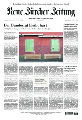 Neue Zürcher Zeitung International (26.02.2021)