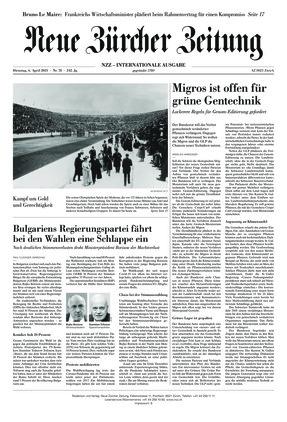 Neue Zürcher Zeitung International (06.04.2021)