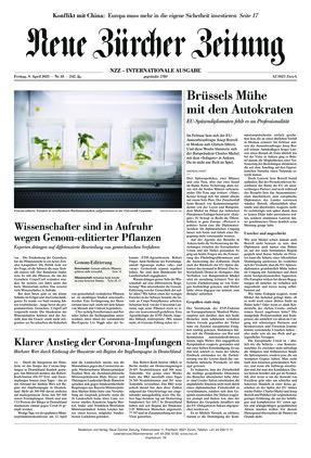 Neue Zürcher Zeitung International (09.04.2021)