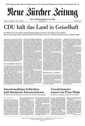 Neue Zürcher Zeitung International (10.04.2021)