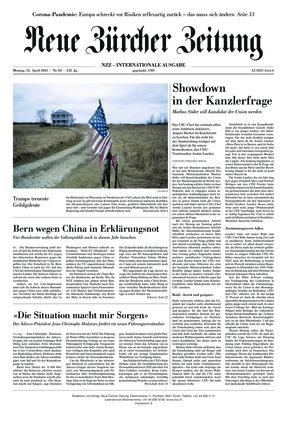 Neue Zürcher Zeitung International (12.04.2021)