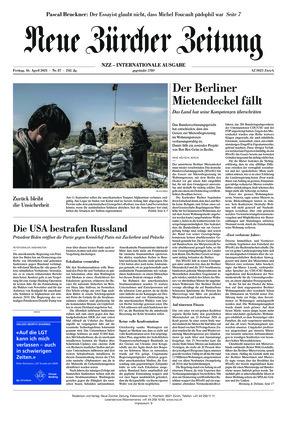 Neue Zürcher Zeitung International (16.04.2021)
