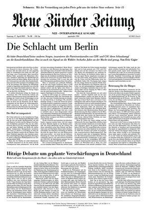 Neue Zürcher Zeitung International (17.04.2021)