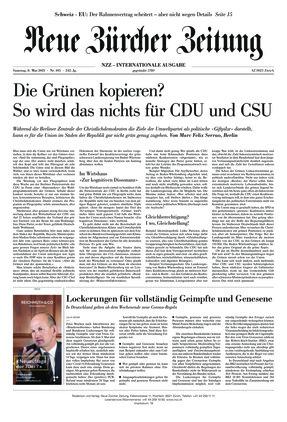 Neue Zürcher Zeitung International (08.05.2021)