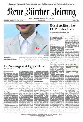 Neue Zürcher Zeitung International (15.06.2021)