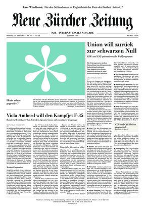 Neue Zürcher Zeitung International (22.06.2021)