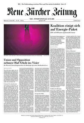 Neue Zürcher Zeitung International (23.06.2021)
