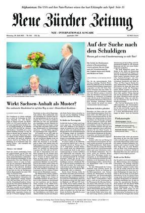 Neue Zürcher Zeitung International (20.07.2021)