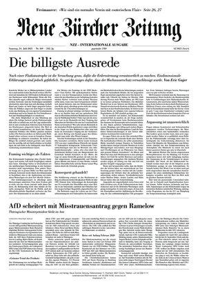 Neue Zürcher Zeitung International (24.07.2021)