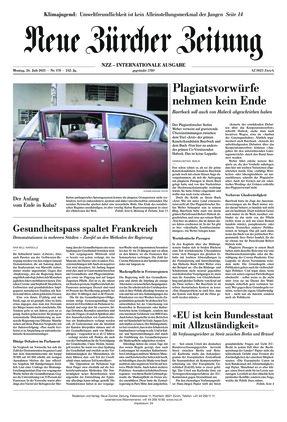 Neue Zürcher Zeitung International (26.07.2021)