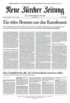 Neue Zürcher Zeitung International (31.07.2021)
