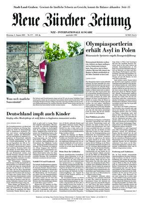 Neue Zürcher Zeitung International (03.08.2021)