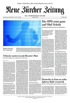 Neue Zürcher Zeitung International (05.08.2021)