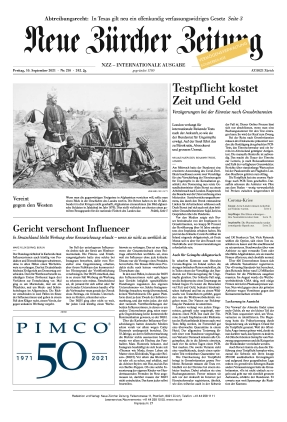 Neue Zürcher Zeitung International (10.09.2021)