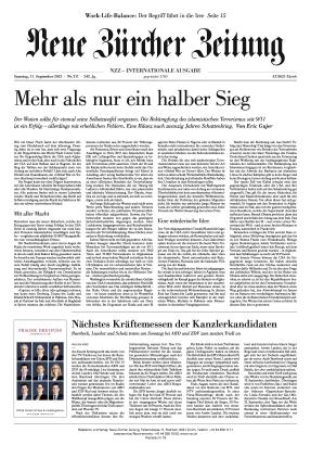 Neue Zürcher Zeitung International (11.09.2021)