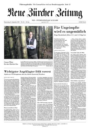 Neue Zürcher Zeitung International (16.09.2021)