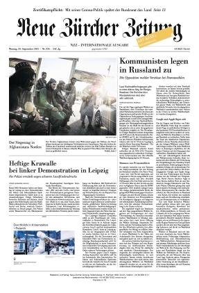 Neue Zürcher Zeitung International (20.09.2021)