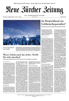 Neue Zürcher Zeitung International (21.09.2021)