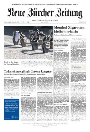 Neue Zürcher Zeitung International (23.09.2021)