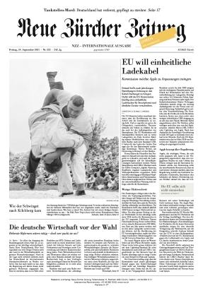 Neue Zürcher Zeitung International (24.09.2021)
