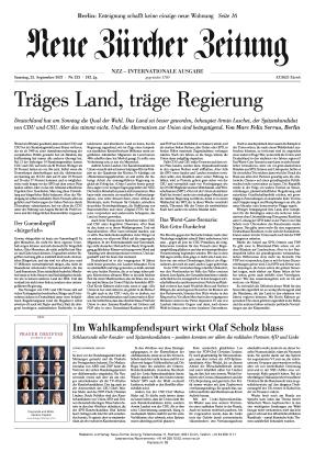 Neue Zürcher Zeitung International (25.09.2021)