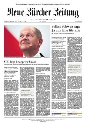 Neue Zürcher Zeitung International (27.09.2021)