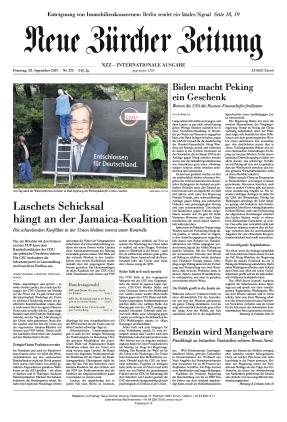 Neue Zürcher Zeitung International (28.09.2021)