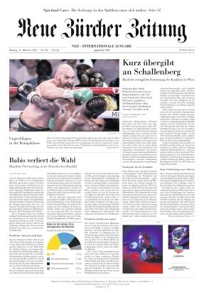 Neue Zürcher Zeitung International (11.10.2021)
