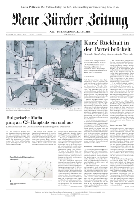 Neue Zürcher Zeitung International (12.10.2021)