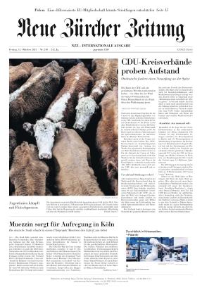 Neue Zürcher Zeitung International (15.10.2021)
