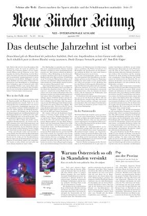 Neue Zürcher Zeitung International (16.10.2021)