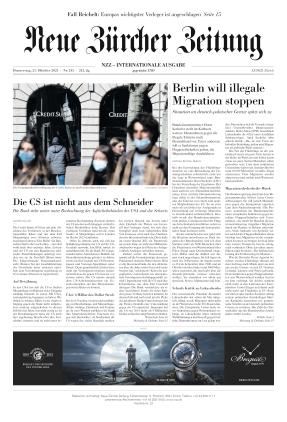 Neue Zürcher Zeitung International (21.10.2021)