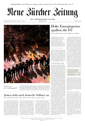 Neue Zürcher Zeitung International (22.10.2021)