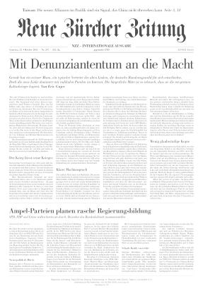 Neue Zürcher Zeitung International (23.10.2021)