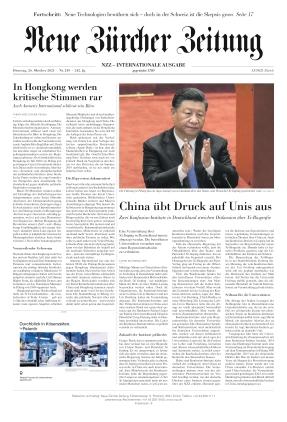 Neue Zürcher Zeitung International (26.10.2021)