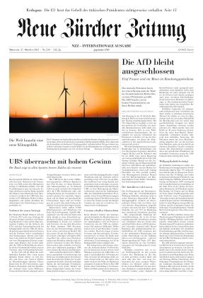 Neue Zürcher Zeitung International (27.10.2021)