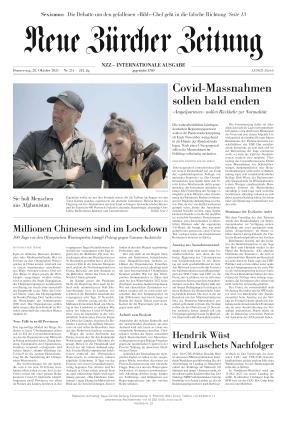 Neue Zürcher Zeitung International (28.10.2021)