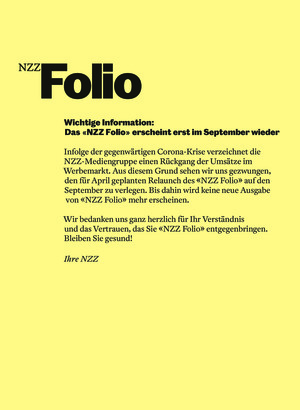 NZZ Folio (April/2020)