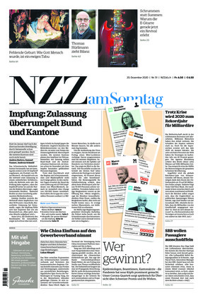 NZZ am Sonntag (20.12.2020)