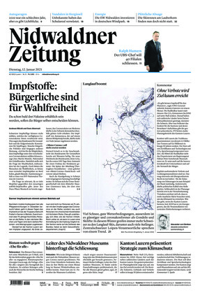 Nidwaldner Zeitung (12.01.2021)