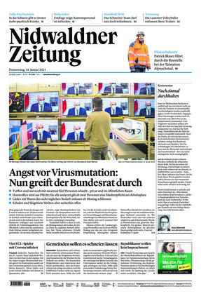 Nidwaldner Zeitung (14.01.2021)