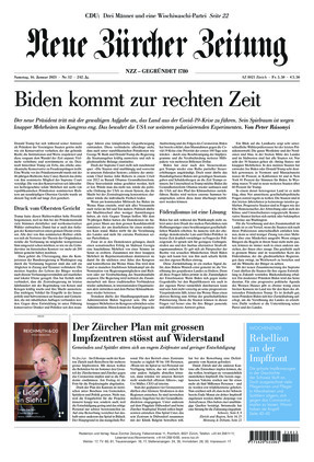 Neue Zürcher Zeitung (16.01.2021)