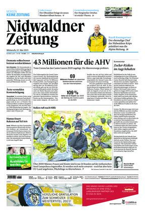 Nidwaldner Zeitung (12.05.2021)