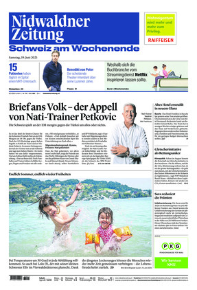 Nidwaldner Zeitung (19.06.2021)