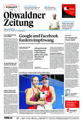 Obwaldner Zeitung (30.07.2021)