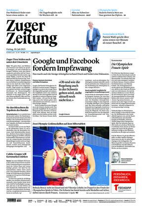 Zuger Zeitung (30.07.2021)