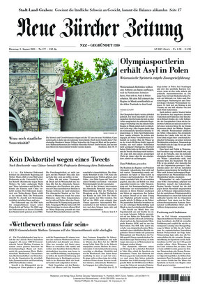 Neue Zürcher Zeitung (03.08.2021)